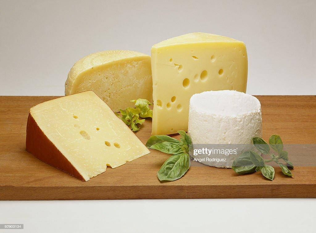 Variety of cheeses  : Stock Photo