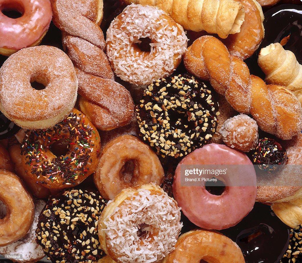 Variety of doughnuts