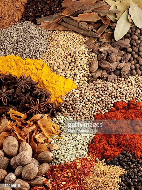 Variety of Dried Spice