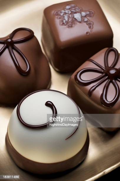 Variety of Elegant Chocolate Truffles