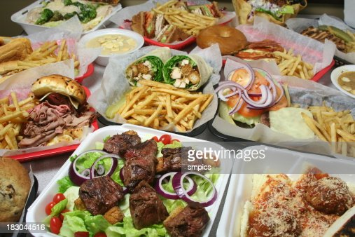 Variety of Fast Food Items
