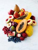 Variety of fresh fruits