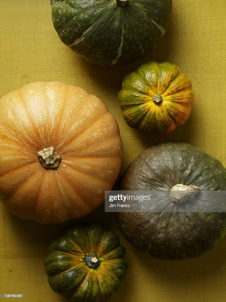 A variety of fresh Pumpkins : Stock Photo