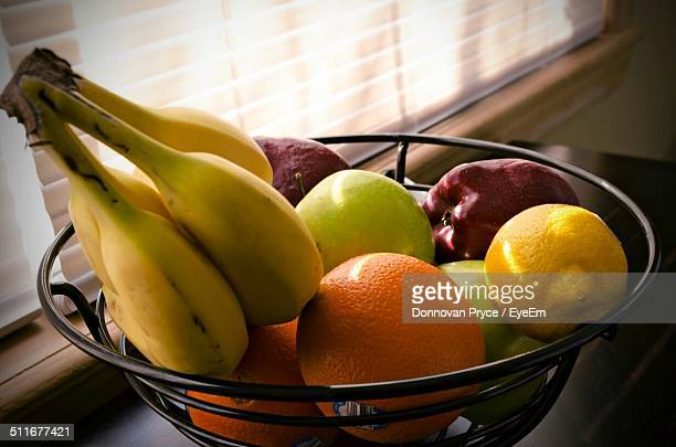 Variety of fruits in bowl