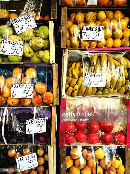 Variety Of Fruits In Market