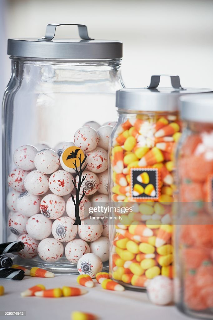 Variety of Halloween Candy : Stock Photo