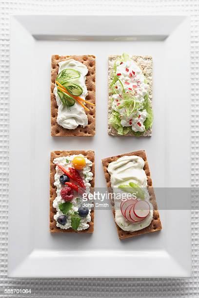 Variety of healthy snacks