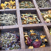 Variety of Herbal and Spice Teas