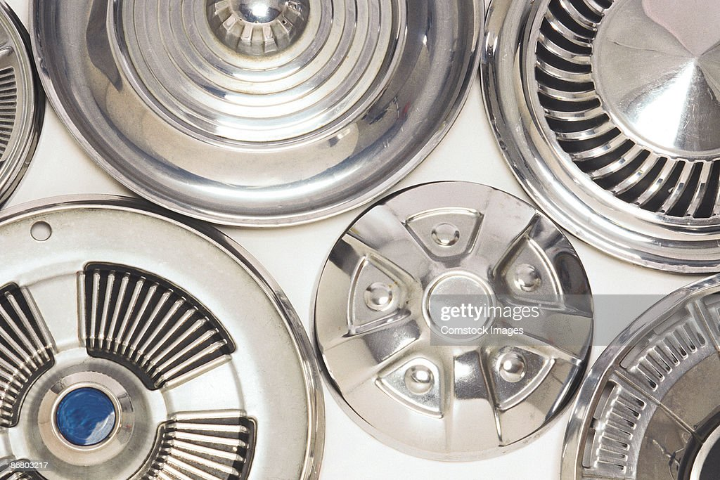 Variety of hubcaps