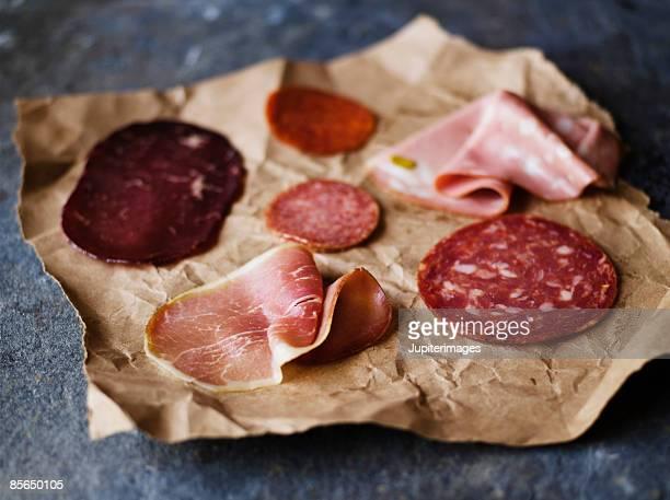 Variety of Italian meats