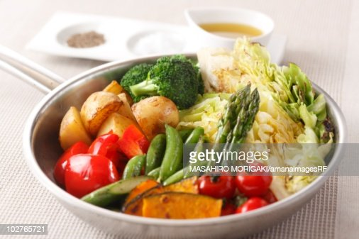 Variety of Japanese style vegetables : Stock Photo