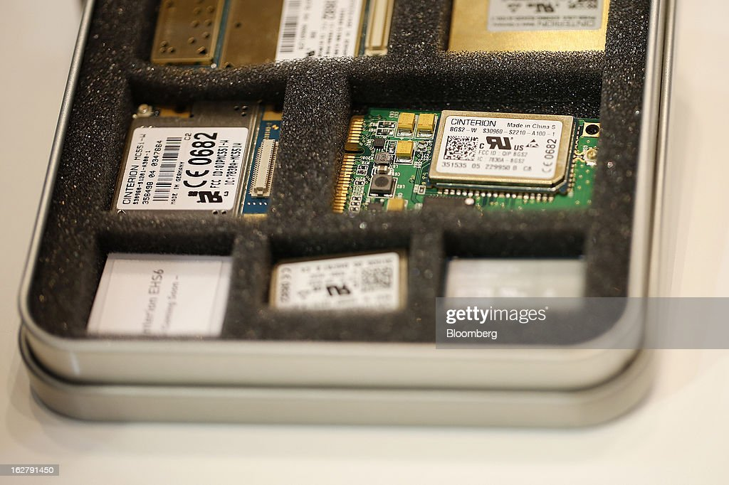 A variety of microprocessors sit in a display case at the Gemalto NV pavilion during the Mobile World Congress in Barcelona, Spain, on Wednesday, Feb. 27, 2013. The Mobile World Congress, where 1,500 exhibitors converge to discuss the future of wireless communication, is a global showcase for the mobile technology industry and runs from Feb. 25 through Feb. 28. Photographer: Simon Dawson/Bloomberg via Getty Images