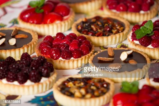 Variety of pies and pastries