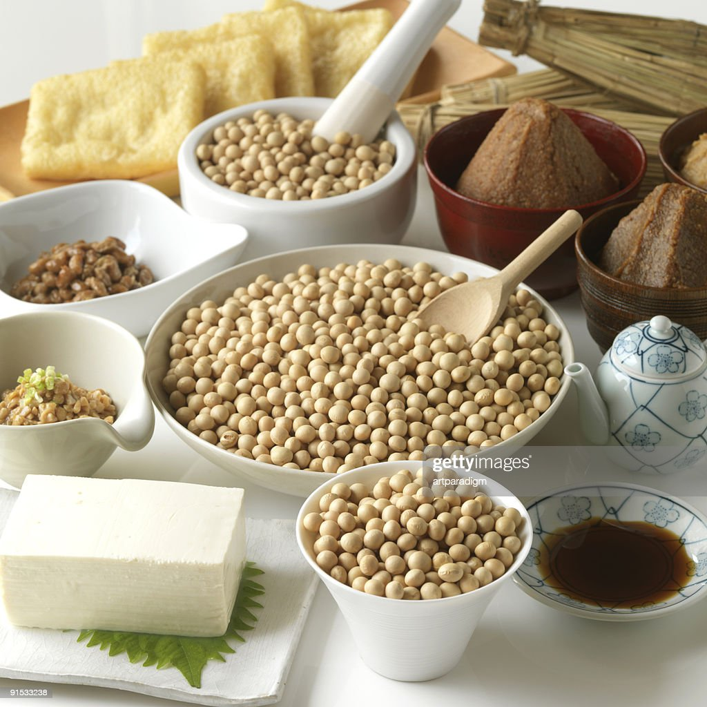 Variety of soy products : Stock Photo