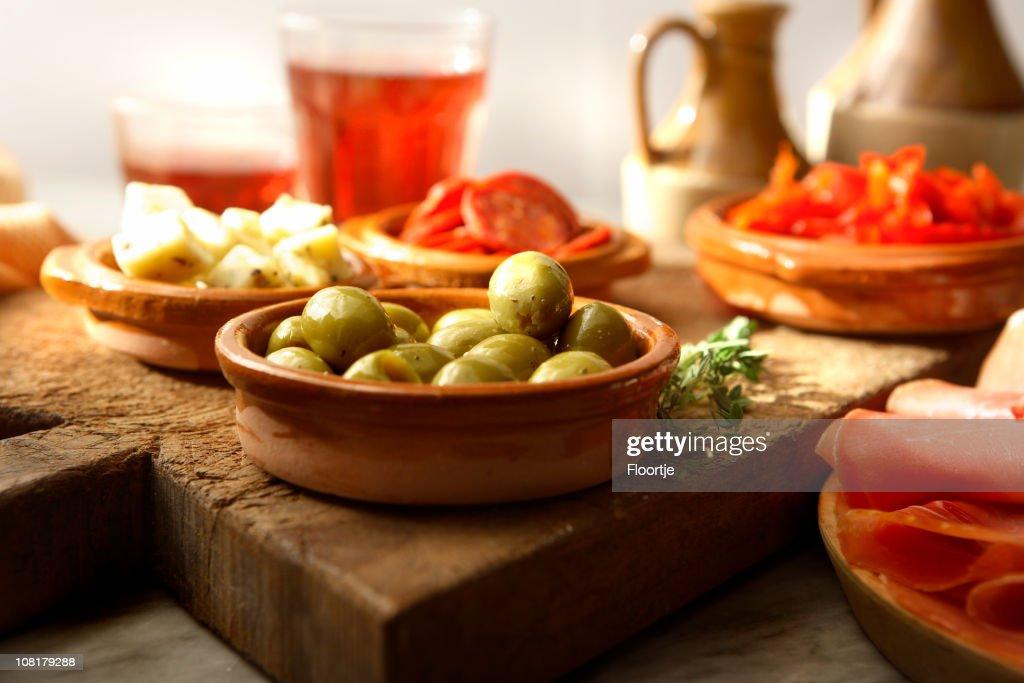 Variety of Spanish Tapas