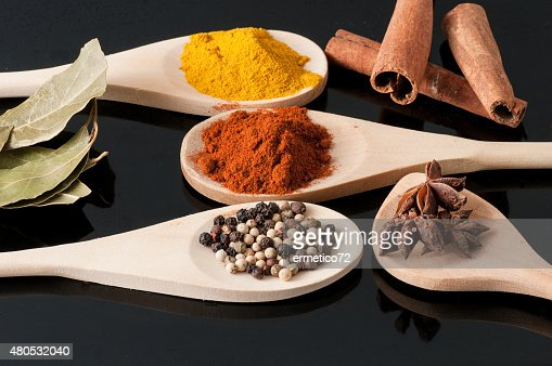 variety of spices and aromatic herbs : Stock Photo