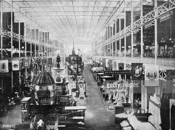 A variety of stalls at the Great Exhibition in the Crystal Palace London