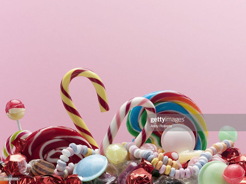 Variety of sweet candies