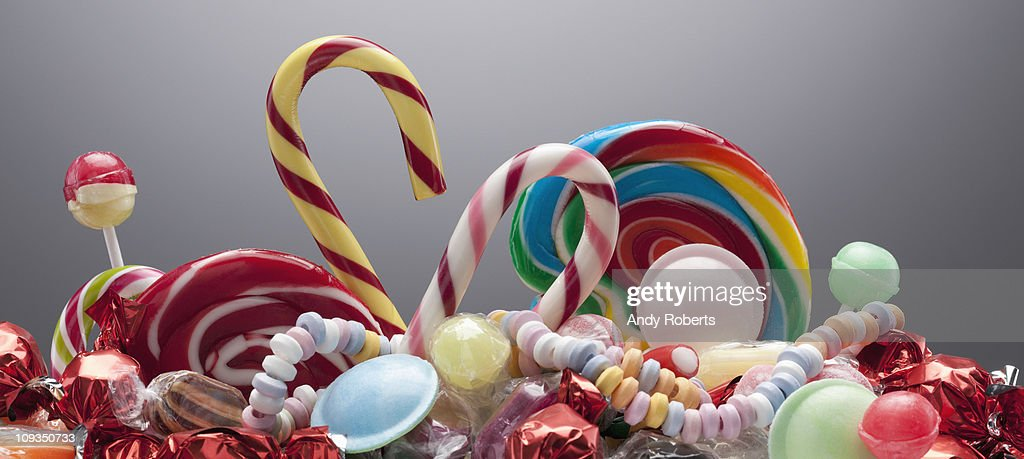 Variety of sweet candies : Stock Photo