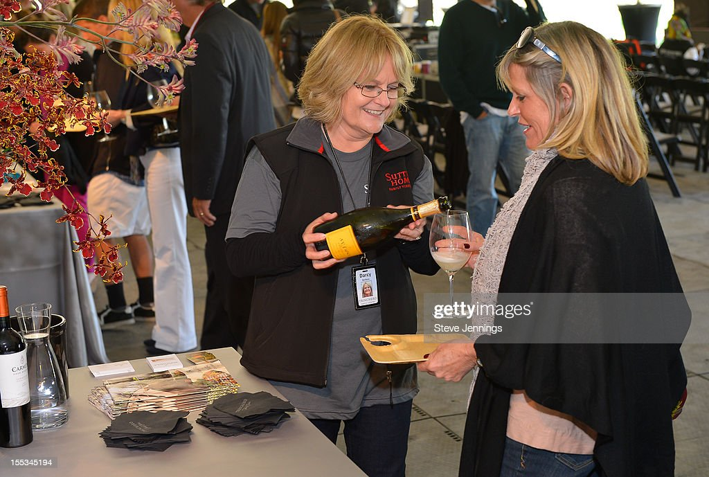 A variety of wine tasting at Sutter Home Winery at Live In The Vineyard on November 2, 2012 in Napa, California.