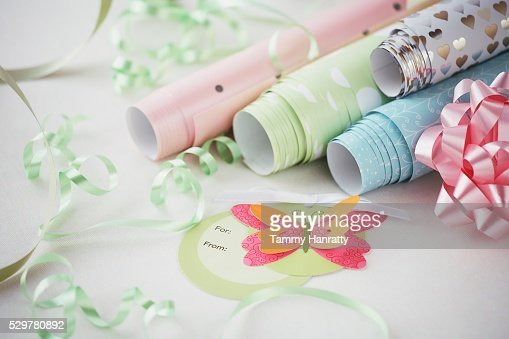 Variety of Wrapping Paper : Stock-Foto