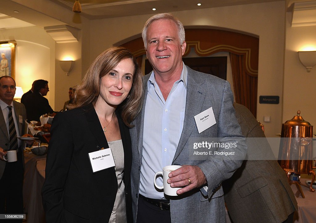 Variety Publisher <a gi-track='captionPersonalityLinkClicked' href=/galleries/search?phrase=Michelle+Sobrino&family=editorial&specificpeople=3065766 ng-click='$event.stopPropagation()'>Michelle Sobrino</a> and Patrick Dunn of Dunn & Pariser attend Variety's Business Managers Elite Breakfast presented by City National Bank at Montage Beverly Hills on November 8, 2012 in Beverly Hills, California.