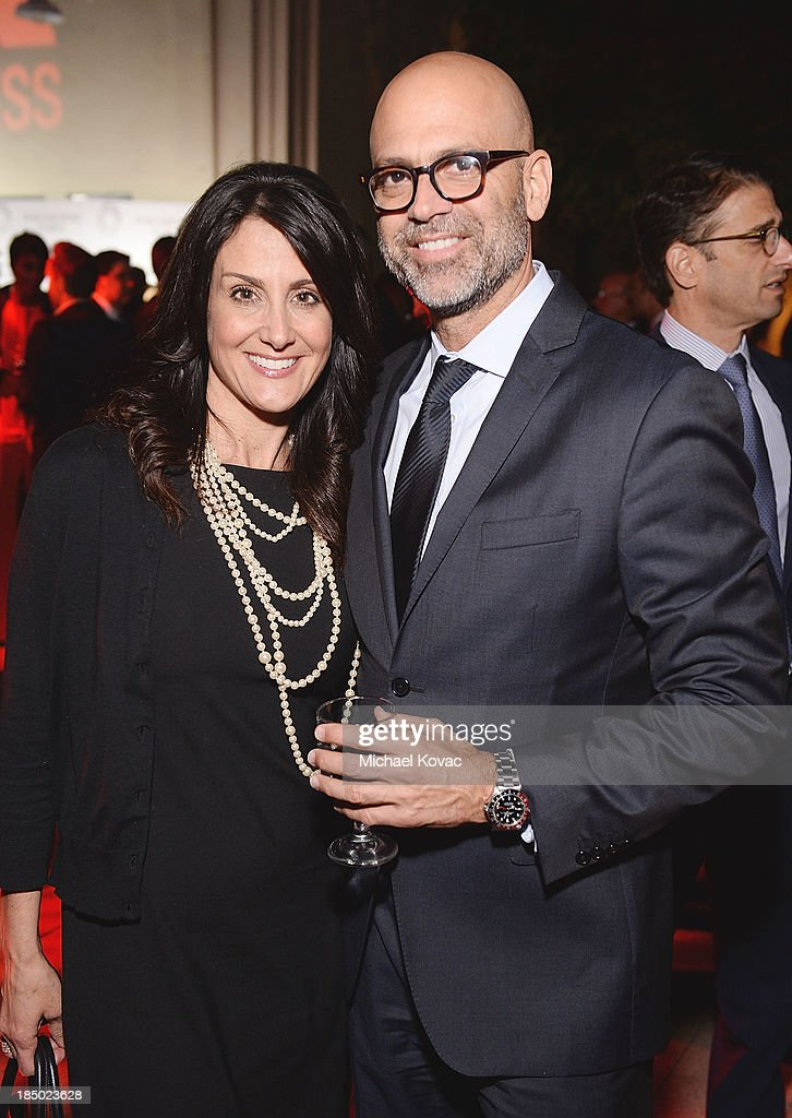 Variety's Donna Pennestri (L) and Executive Vice President of Warner Brothers television Brett Paul arrive at The Paley Center for Media's 2013 benefit gala honoring FX Networks with the Paley Prize for Innovation & Excellence at Fox Studio Lot on October 16, 2013 in Los Angeles, California.
