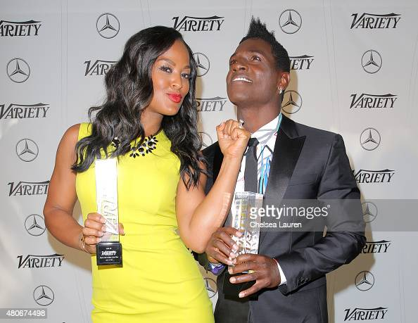 Variety's Female Sports Personality of the Year Laila Ali and Variety's Male Sports Personality of the Year Antonio Brown attend the Variety's Sports...