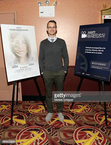 Variety's Gordon Cox attends the 2014 Variety Screening Series 'Cake' at AMC Loews 34th Street 14 theater on December 15 2014 in New York City