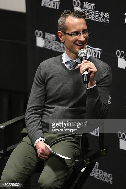 Variety's Gordon Cox speaks at the 2014 Variety Screening Series 'Cake' at AMC Loews 34th Street 14 theater on December 15 2014 in New York City