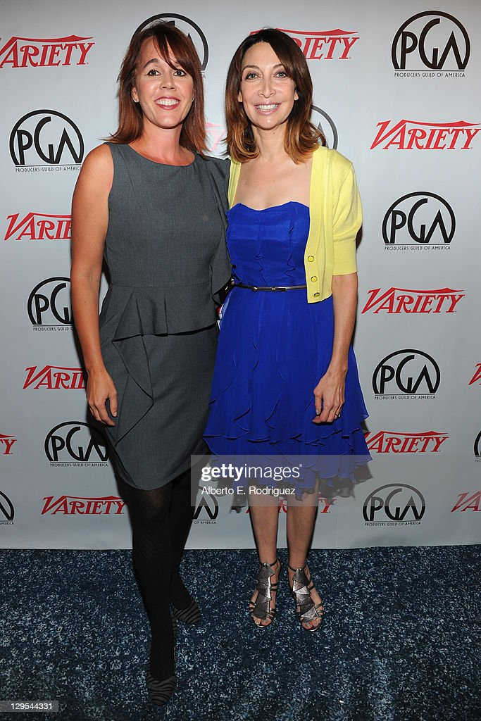 Variety's Linda Buckley and actress Illeana Douglas attend The Producers Guild of America's Digital 25 2011 Leaders in Emerging Entertainment in...