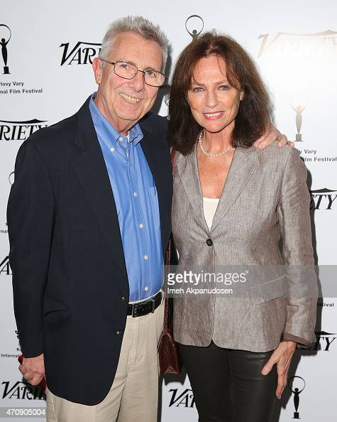 Variety's managing editor features Peter Caranicas and actress Jacqueline Bisset attend the 50th anniversary celebration of the Karlovy Vary...