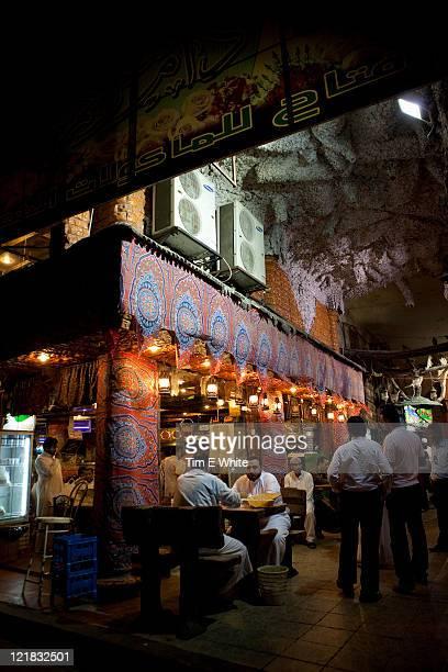 Various cafes, juice bars, stalls and tradesmen, Al-Balad, Old town, Jeddah, Saudi Arabia, Middle East