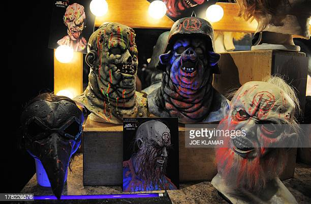 Various characters from Black Sabath 13 are displayed during Universal Studios' 'Halloween Horror Nights' media makeup kickoff at The Globe Theatre...