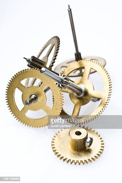 Various clock bits on white