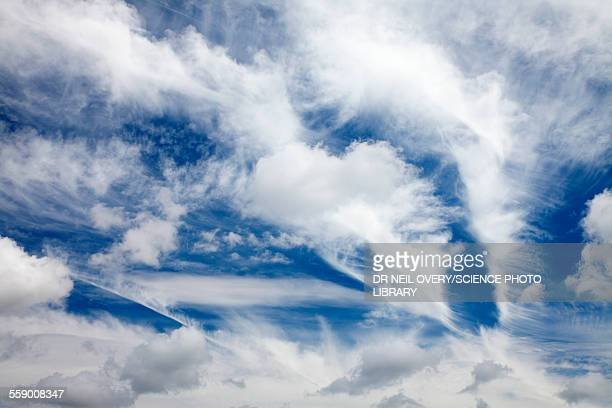 Various cloud formations