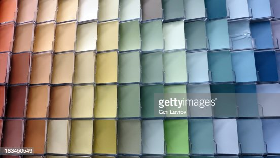 Various colored paint swatches