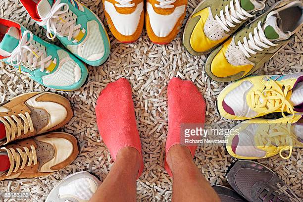 Various colored sneakers