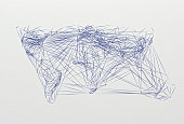 Various connections implying a world map