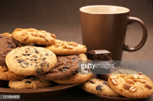 Various cookies and coffee : Stock Photo