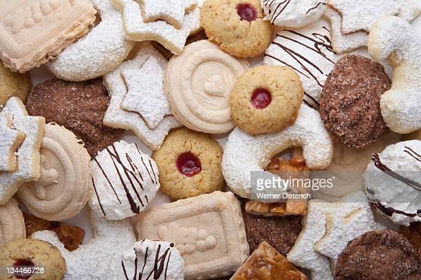Various cookies, Christmas cookies, Christmas cookies, cakes, vanilla, coconut macaroons, Christmas, Germany