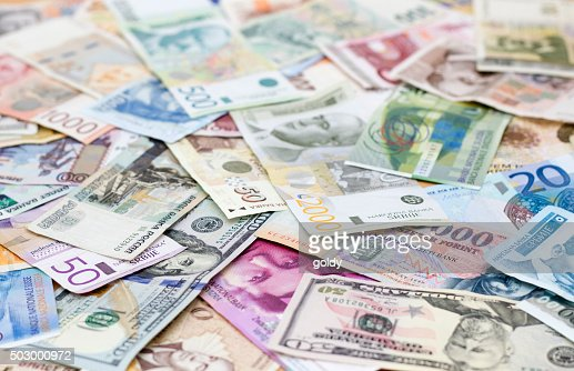 various currencies : Stock Photo