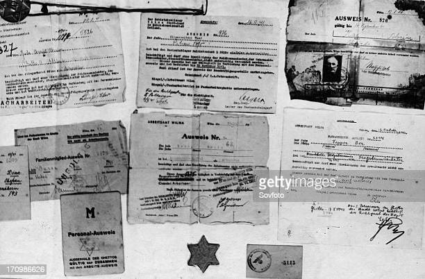 Various documents and identity papers of jewish prisoners at auschwitz