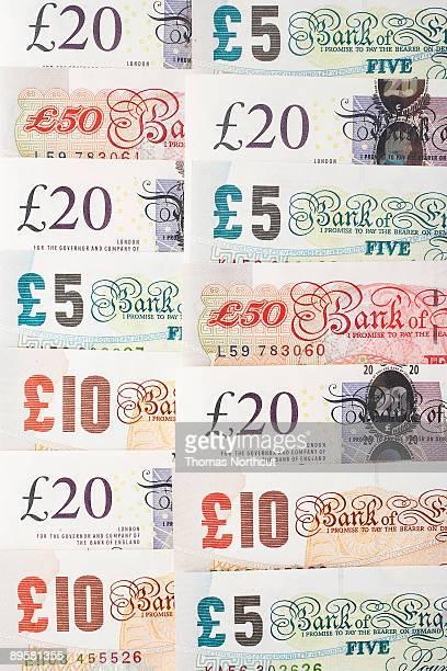 Various English Pound Notes