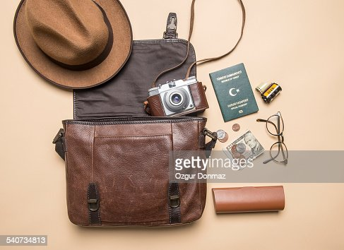 Various equipments of a traveller