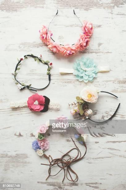 Various floral crowns