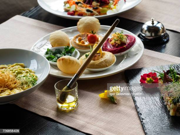 Various Food On Table