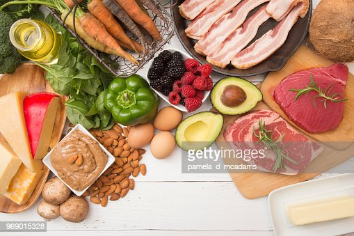 Various Foods that are Perfect for High Fat, Low Carb Diets : Stock Photo