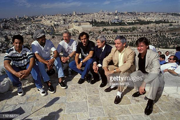 Various football club of France Palestinian in Jericho Israel on Octorber 09 1993