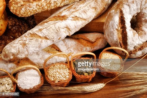various fresh breads : Foto de stock